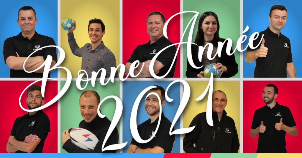 L'ensemble de l'équipe Sports-Village vous adresse ses meilleurs vœux pour cette année 2021 !